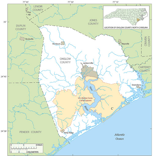 North Carolina South Carolina Beach Map